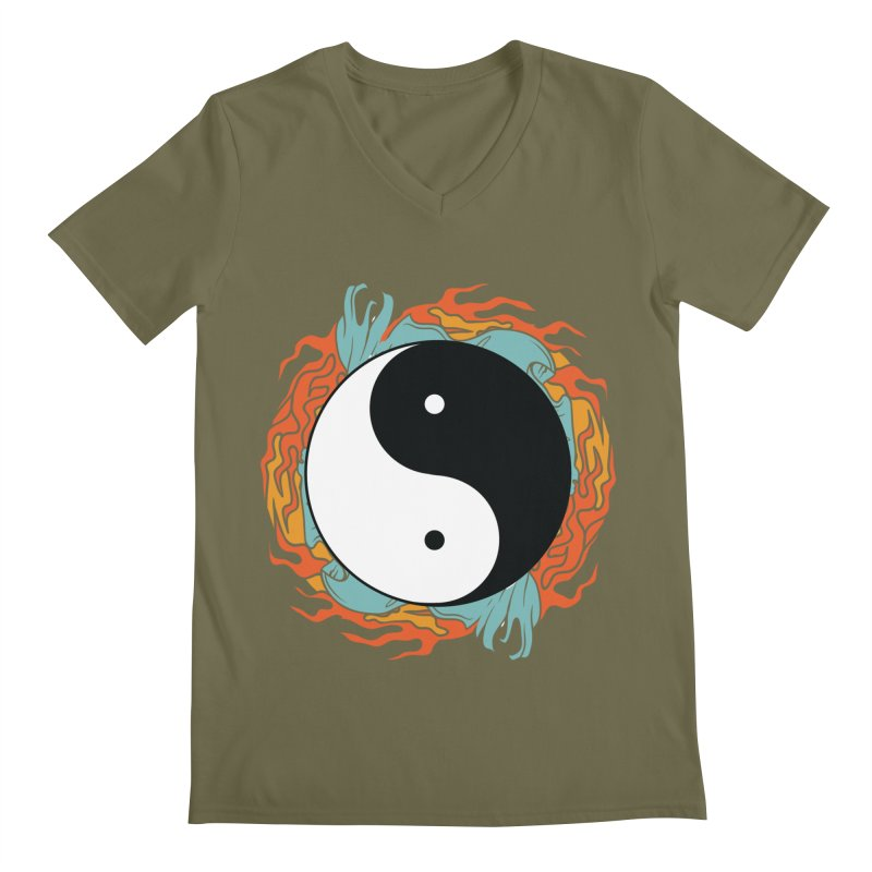 Yin-Yang Hidden Forces Men's V-Neck by ruifaria's Artist Shop