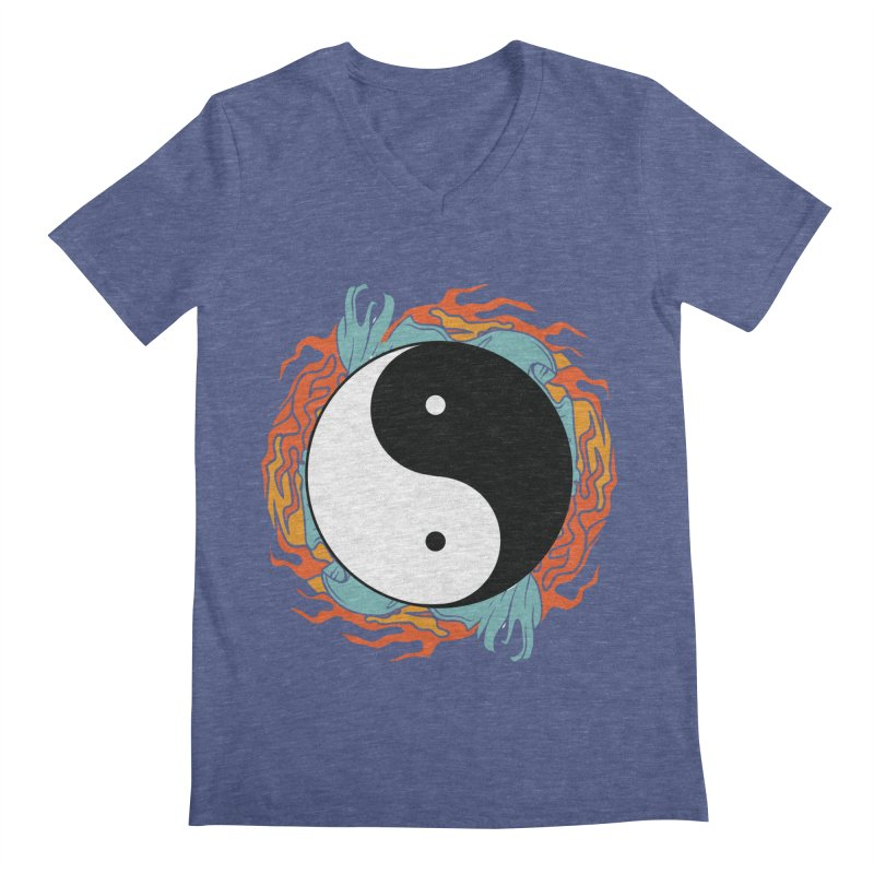 Yin-Yang Hidden Forces Men's V-Neck by ruifaria's Artist Shop