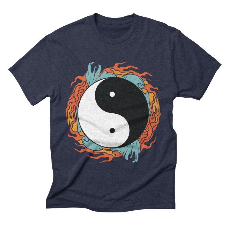 Yin-Yang Hidden Forces Men's Triblend T-shirt by ruifaria's Artist Shop