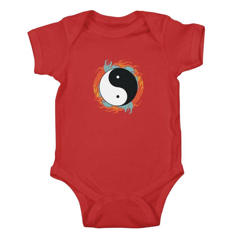 Yin-Yang Hidden Forces Kids Baby Bodysuit by ruifaria's Artist Shop