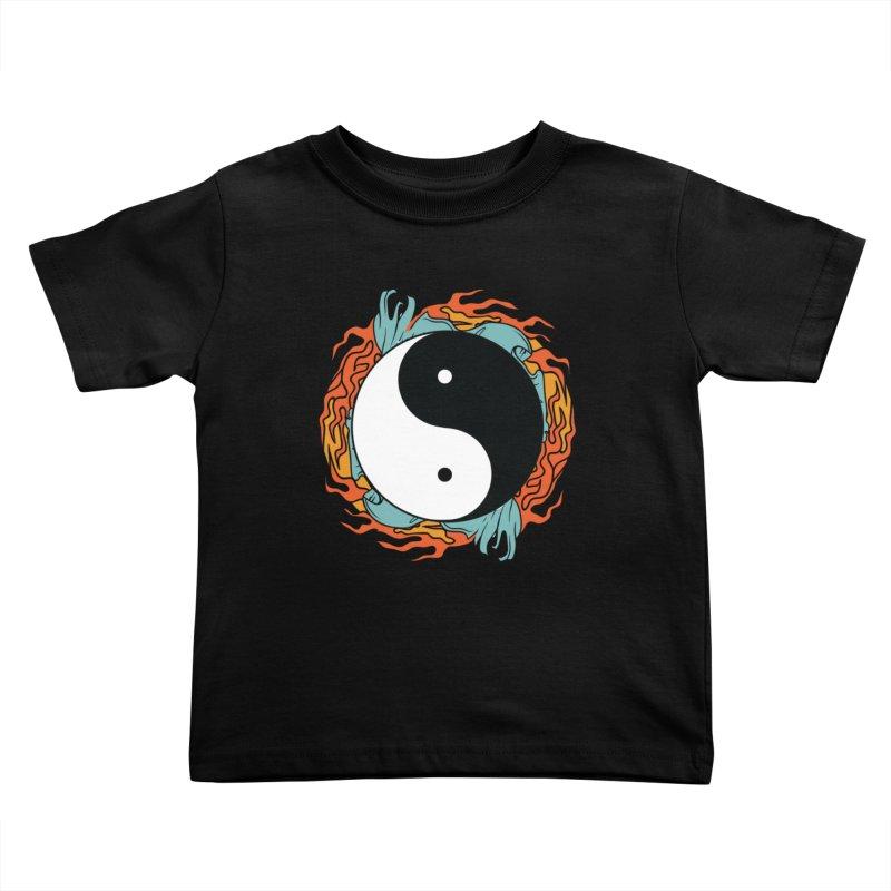 Yin-Yang Hidden Forces Kids Toddler T-Shirt by ruifaria's Artist Shop