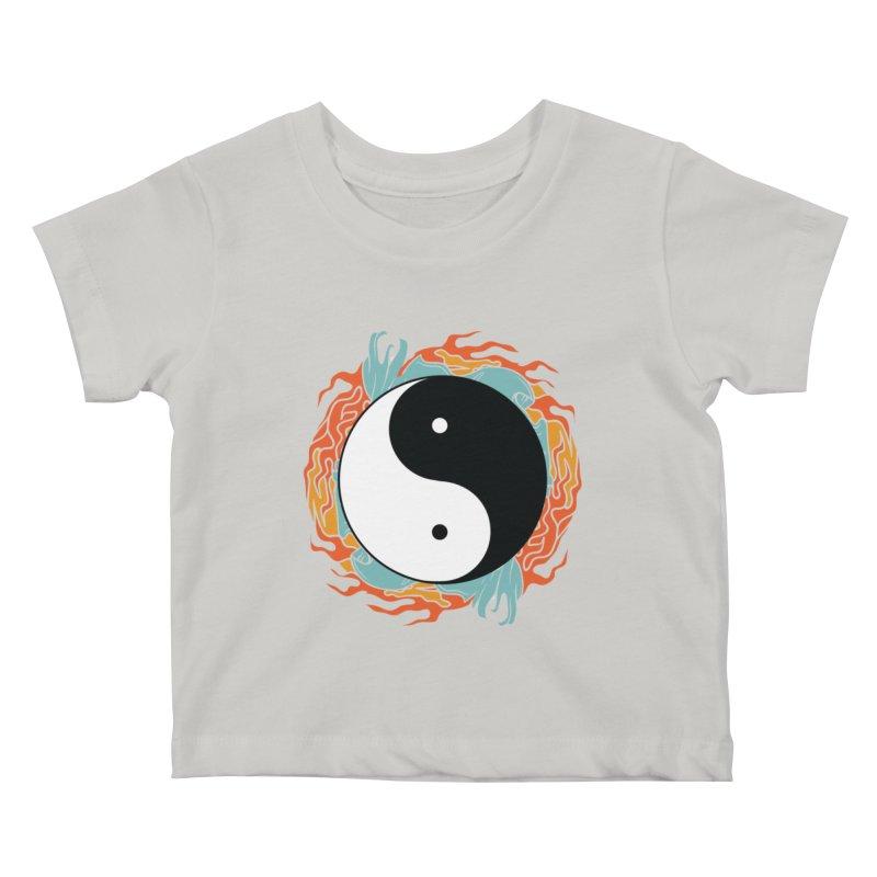Yin-Yang Hidden Forces Kids Baby T-Shirt by ruifaria's Artist Shop