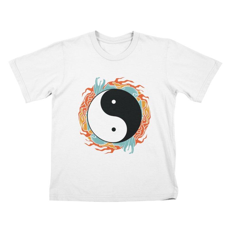 Yin-Yang Hidden Forces Kids T-shirt by ruifaria's Artist Shop