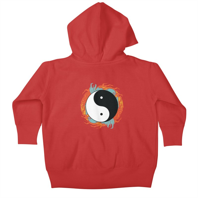 Yin-Yang Hidden Forces Kids Baby Zip-Up Hoody by ruifaria's Artist Shop