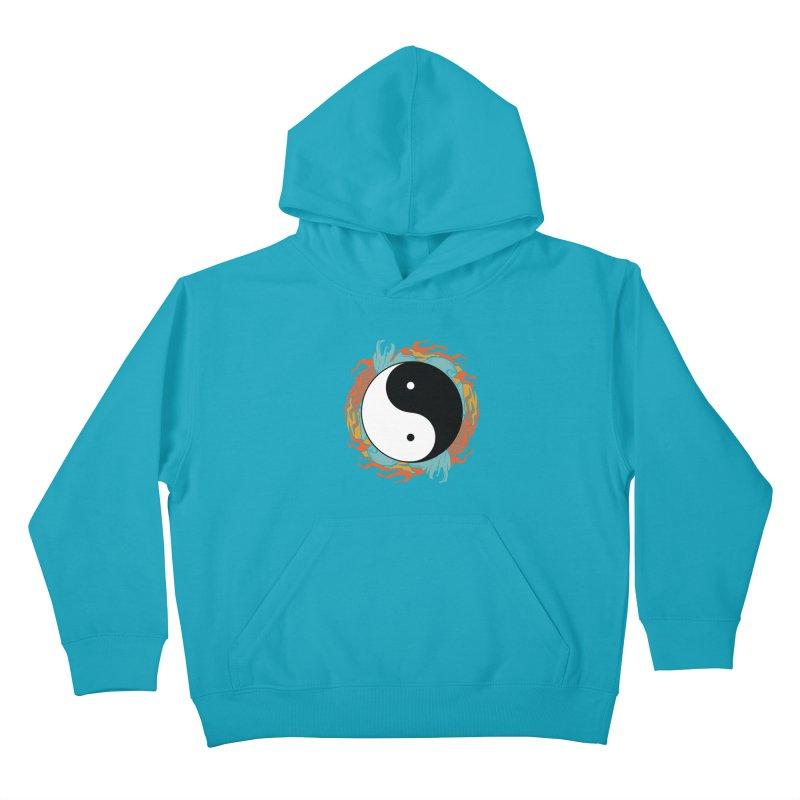 Yin-Yang Hidden Forces Kids Pullover Hoody by ruifaria's Artist Shop