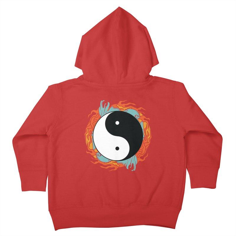 Yin-Yang Hidden Forces Kids Toddler Zip-Up Hoody by ruifaria's Artist Shop