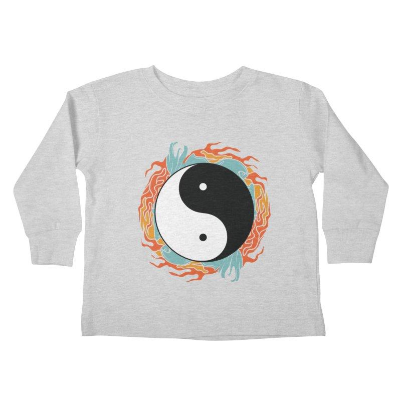 Yin-Yang Hidden Forces Kids Toddler Longsleeve T-Shirt by ruifaria's Artist Shop