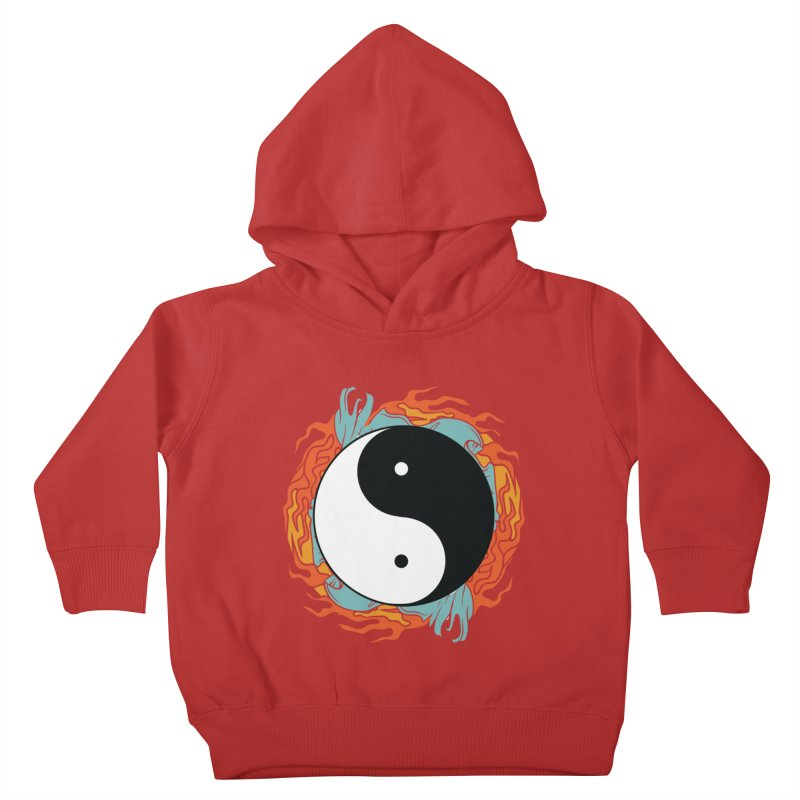 Yin-Yang Hidden Forces Kids Toddler Pullover Hoody by ruifaria's Artist Shop