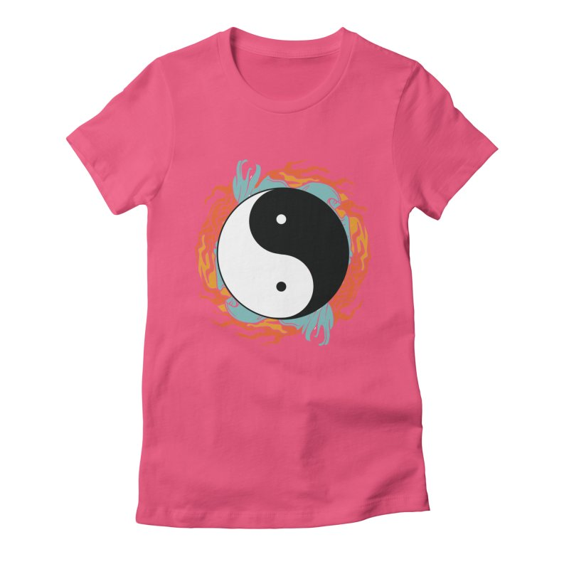 Yin-Yang Hidden Forces Women's Fitted T-Shirt by ruifaria's Artist Shop