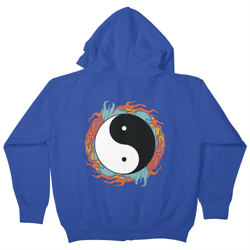 Yin-Yang Hidden Forces Kids Zip-Up Hoody by ruifaria's Artist Shop