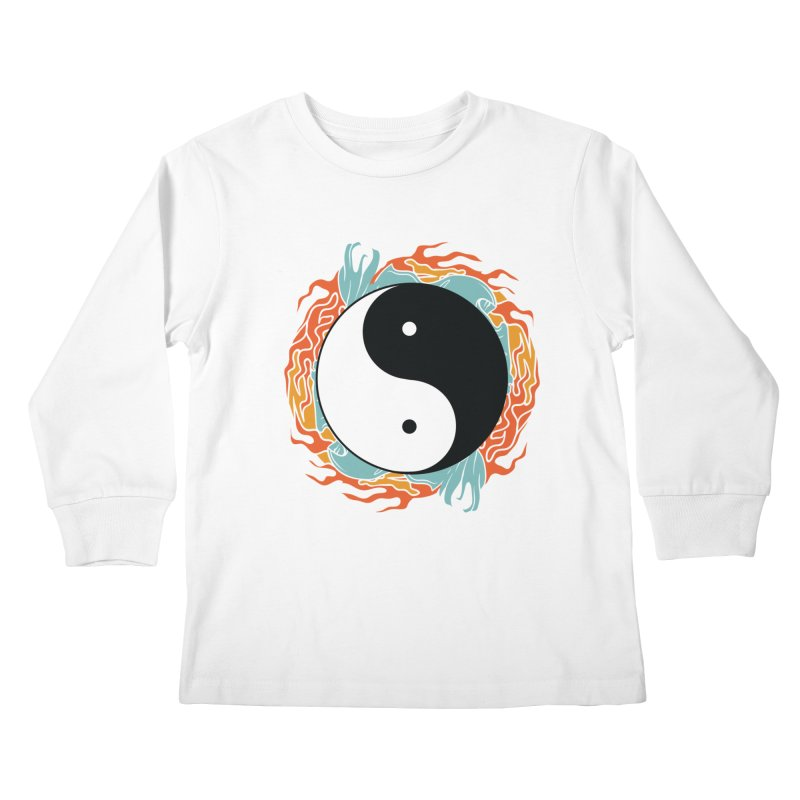 Yin-Yang Hidden Forces Kids Longsleeve T-Shirt by ruifaria's Artist Shop
