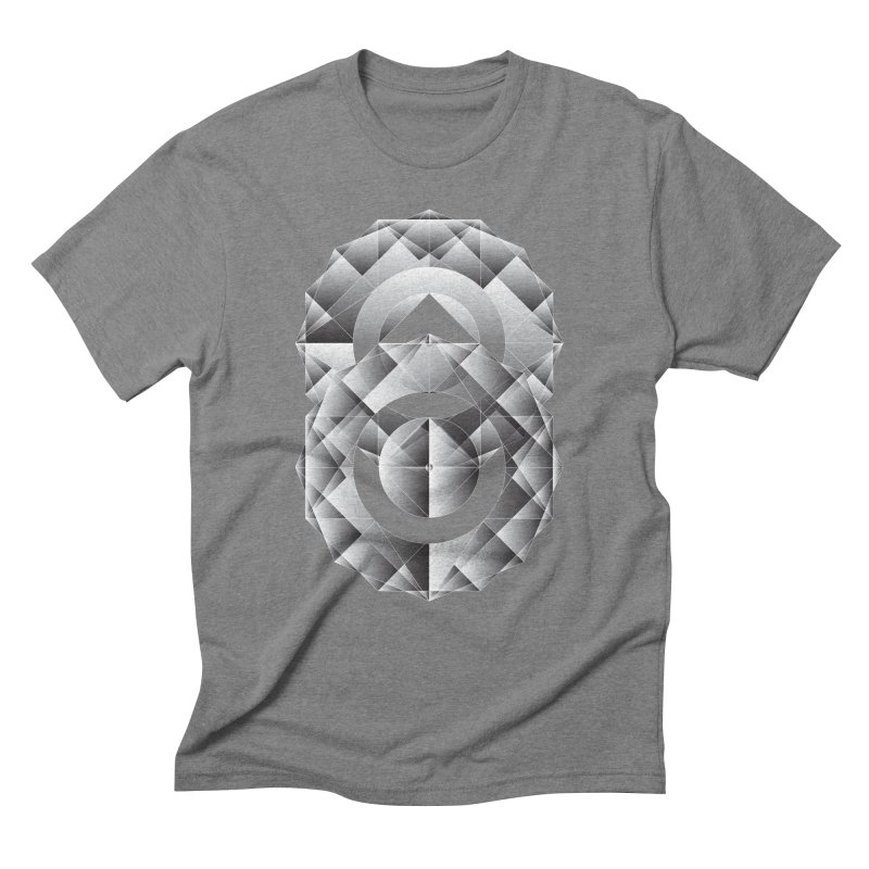 Geometric Perfection Men's Triblend T-Shirt by ruifaria's Artist Shop