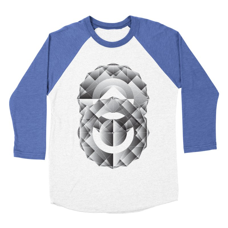 Geometric Perfection Women's Baseball Triblend T-Shirt by ruifaria's Artist Shop