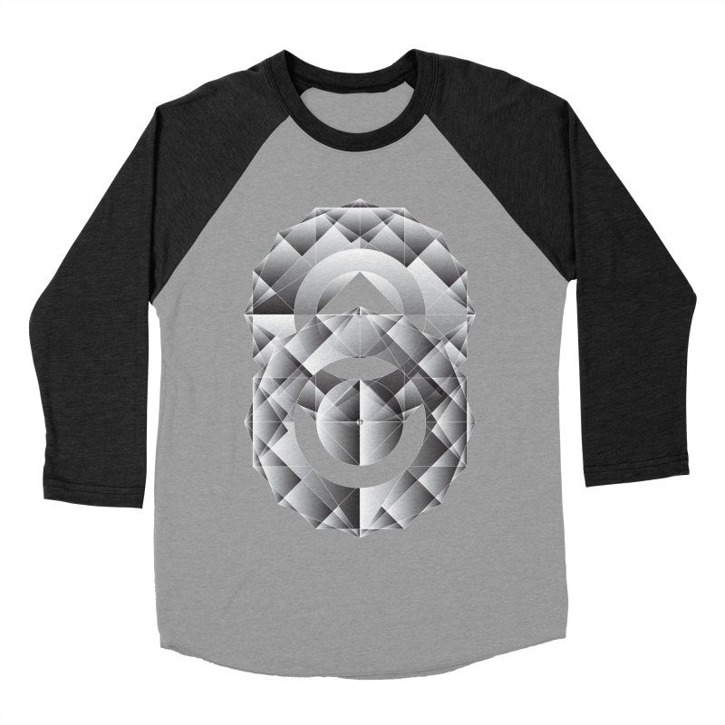 Geometric Perfection Men's Baseball Triblend T-Shirt by ruifaria's Artist Shop