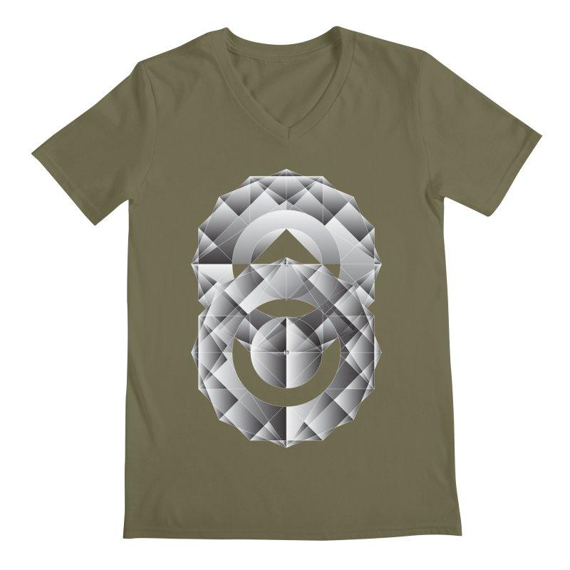 Geometric Perfection Men's V-Neck by ruifaria's Artist Shop