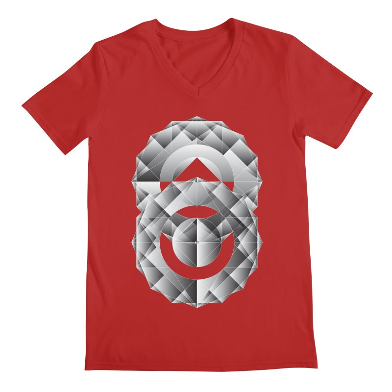 Geometric Perfection Men's V-Neck by ruifaria's Artist Shop