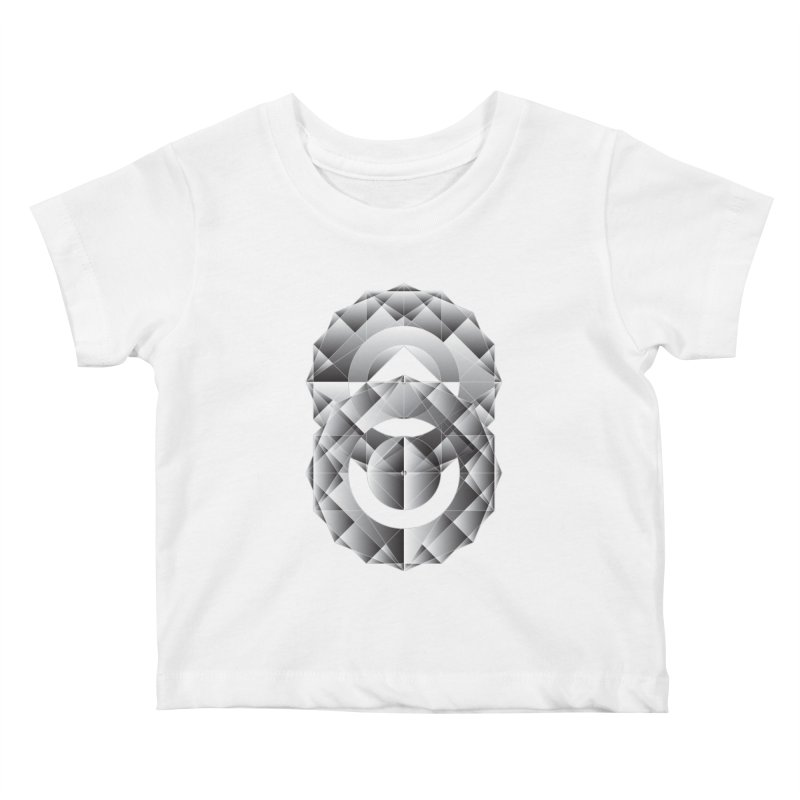 Geometric Perfection Kids Baby T-Shirt by ruifaria's Artist Shop
