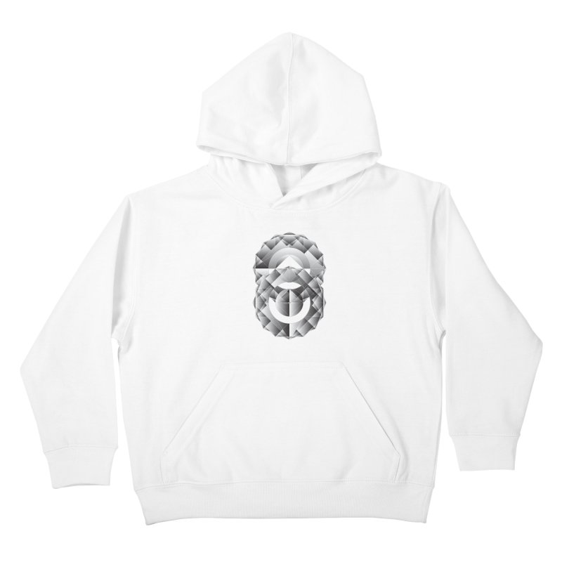 Geometric Perfection Kids Pullover Hoody by ruifaria's Artist Shop