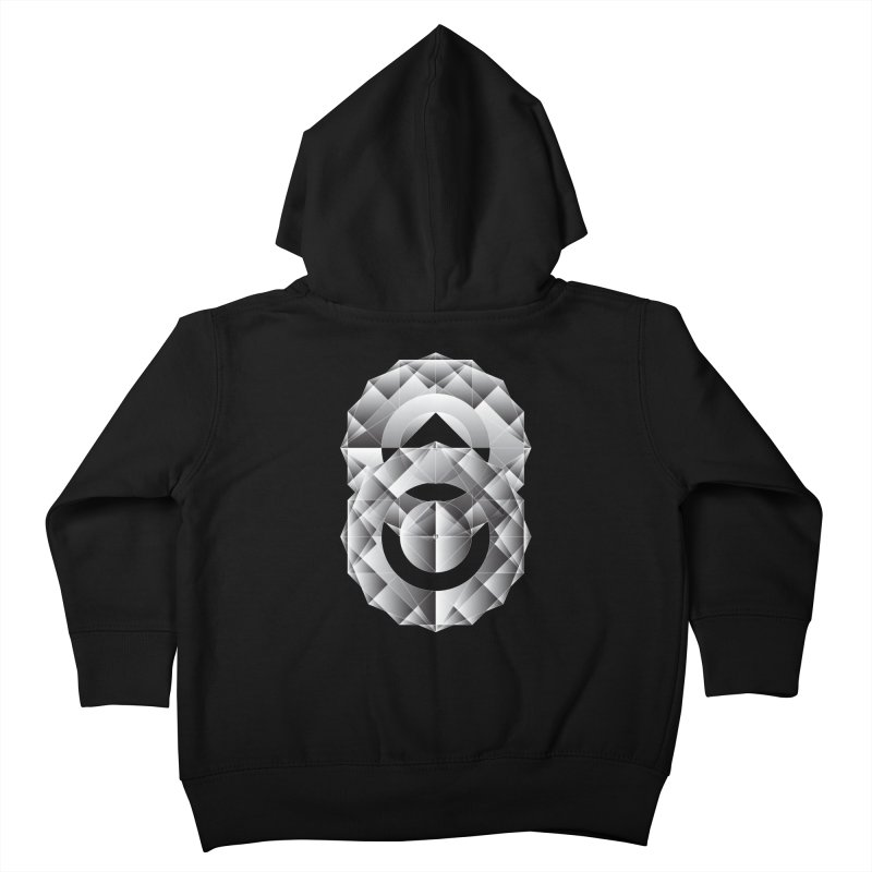 Geometric Perfection Kids Toddler Zip-Up Hoody by ruifaria's Artist Shop