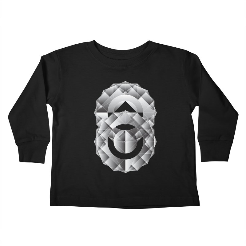 Geometric Perfection Kids Toddler Longsleeve T-Shirt by ruifaria's Artist Shop