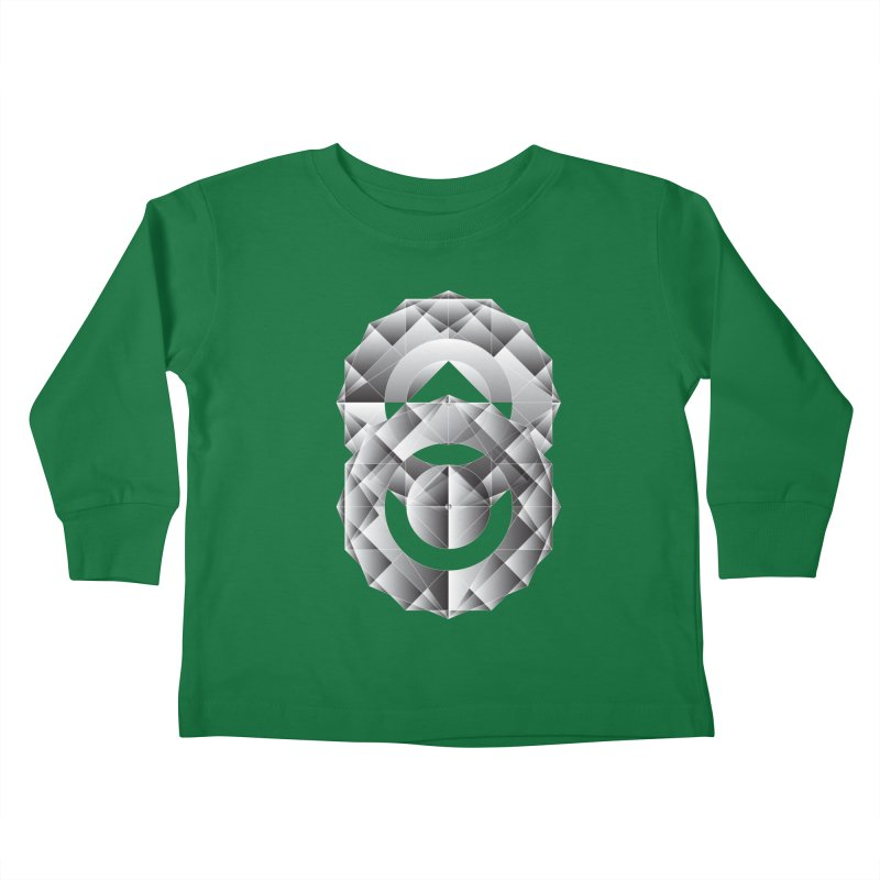 Geometric Perfection Kids Toddler Longsleeve T-Shirt by ruifaria's Artist Shop
