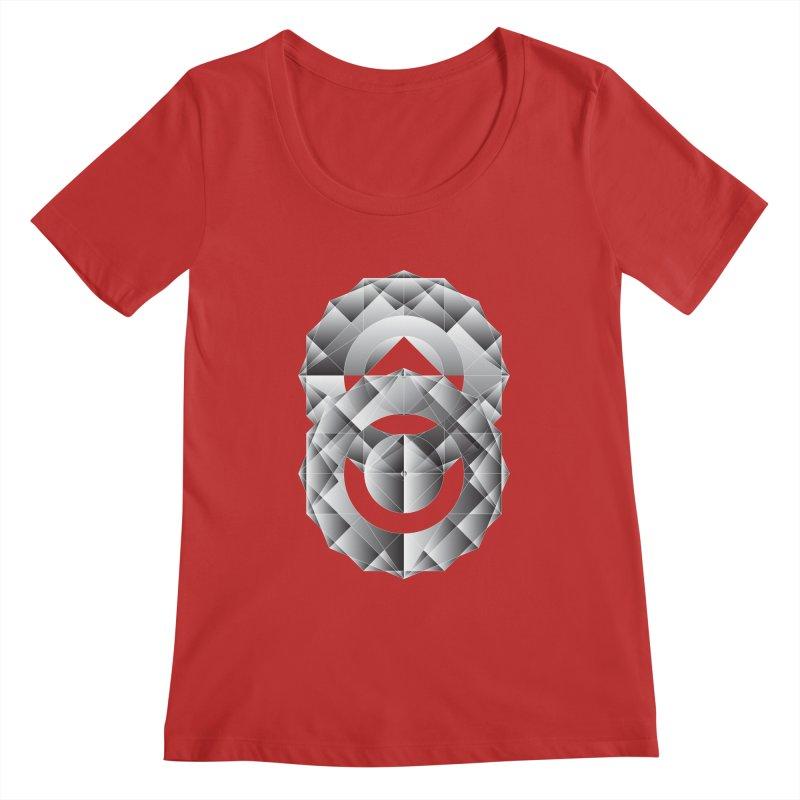 Geometric Perfection Women's Scoopneck by ruifaria's Artist Shop