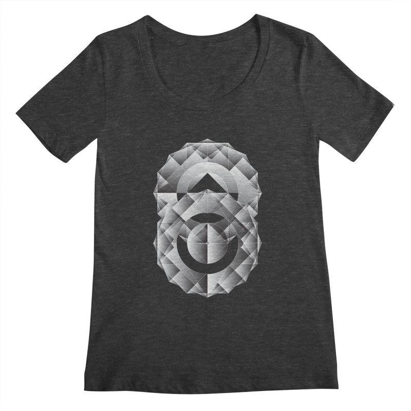 Geometric Perfection Women's Scoopneck by ruifaria's Artist Shop