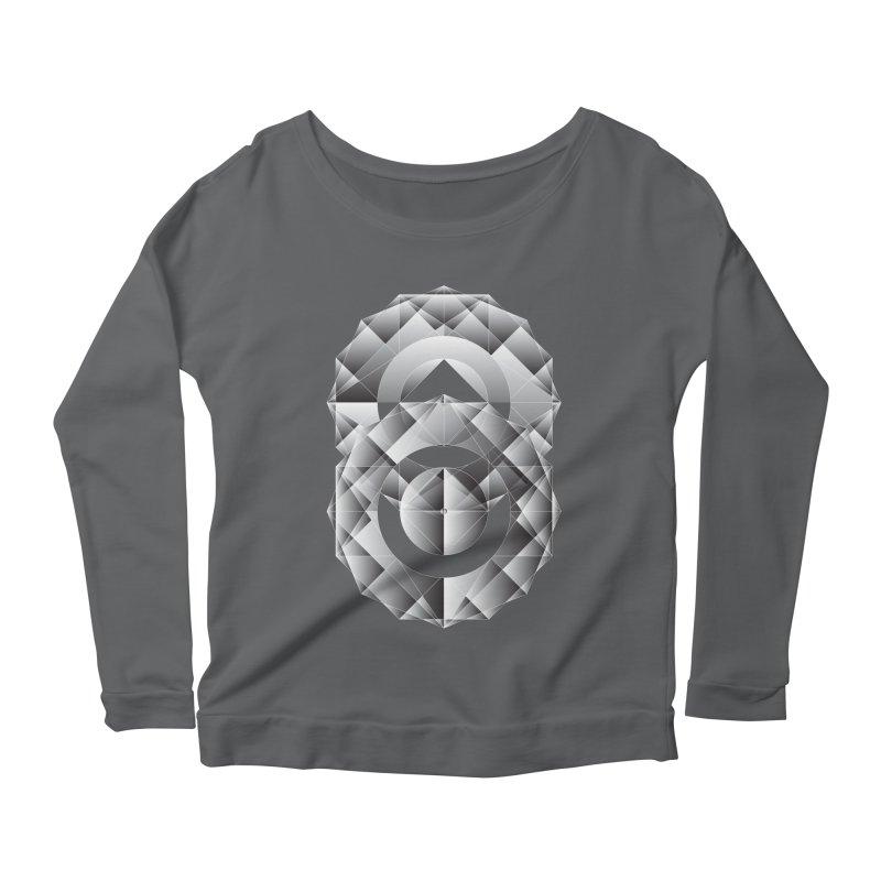 Geometric Perfection Women's Longsleeve Scoopneck  by ruifaria's Artist Shop