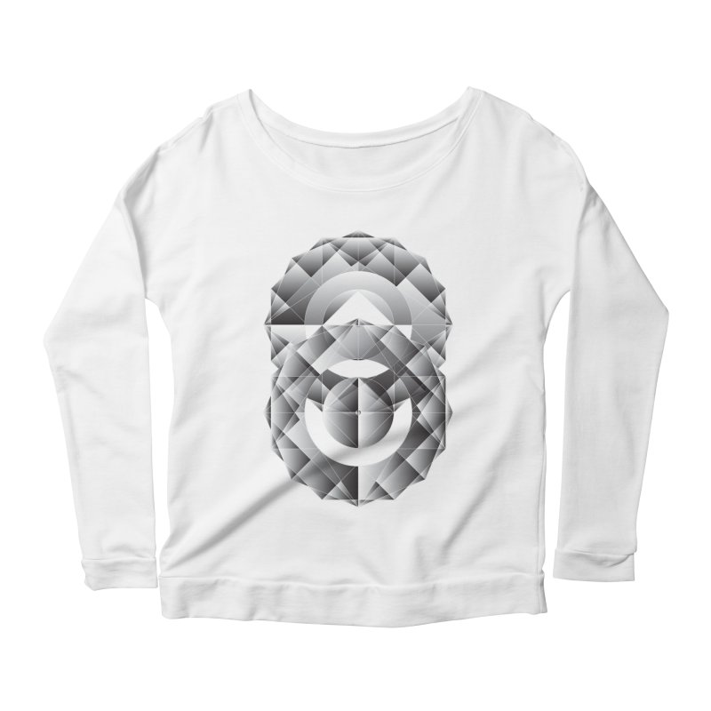 Geometric Perfection Women's Longsleeve Scoopneck  by ruifaria's Artist Shop
