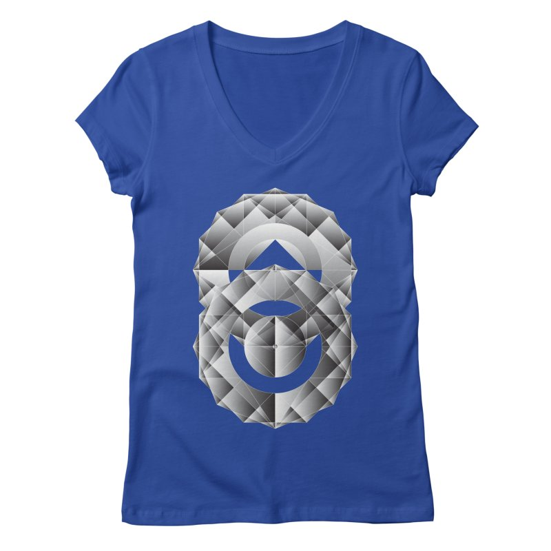 Geometric Perfection Women's V-Neck by ruifaria's Artist Shop