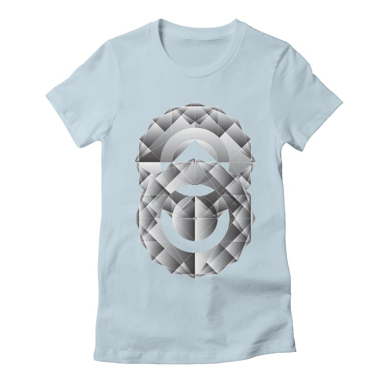 Geometric Perfection Women's Fitted T-Shirt by ruifaria's Artist Shop