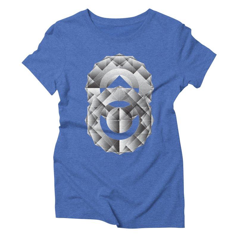 Geometric Perfection Women's Triblend T-shirt by ruifaria's Artist Shop