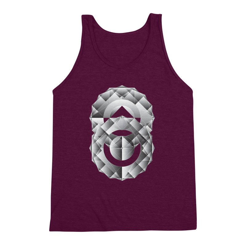 Geometric Perfection Men's Triblend Tank by ruifaria's Artist Shop