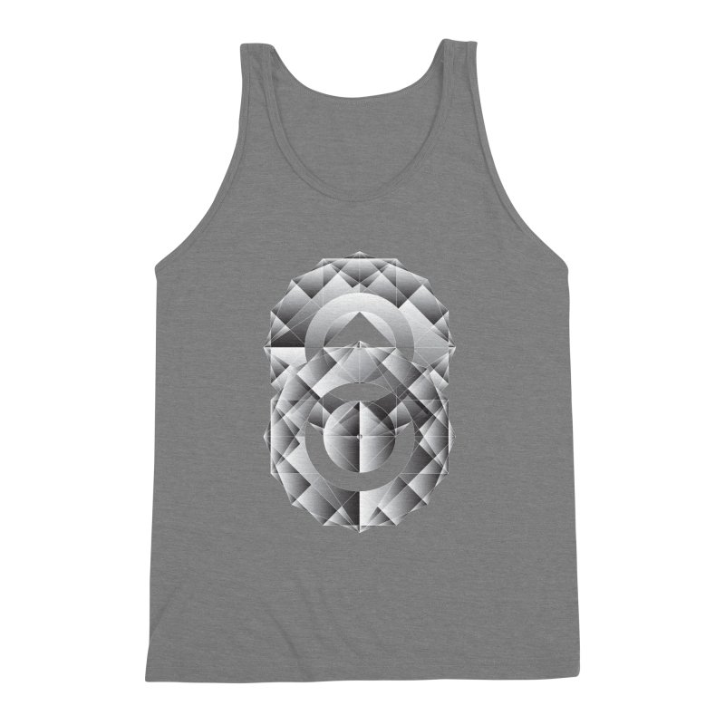 Geometric Perfection Men's Triblend Tank by ruifaria's Artist Shop