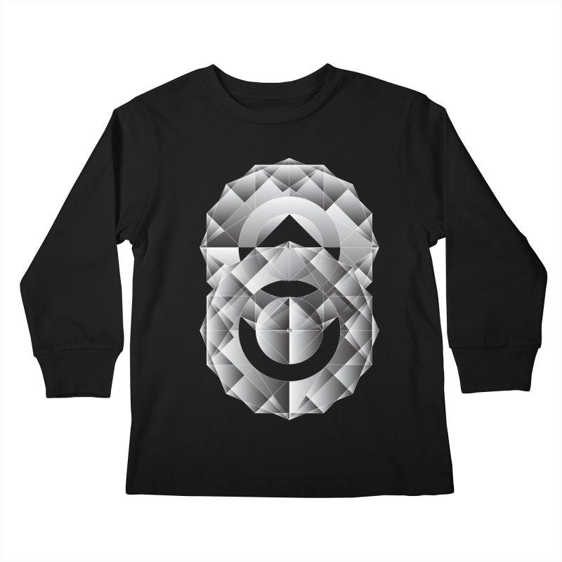 Geometric Perfection Kids Longsleeve T-Shirt by ruifaria's Artist Shop