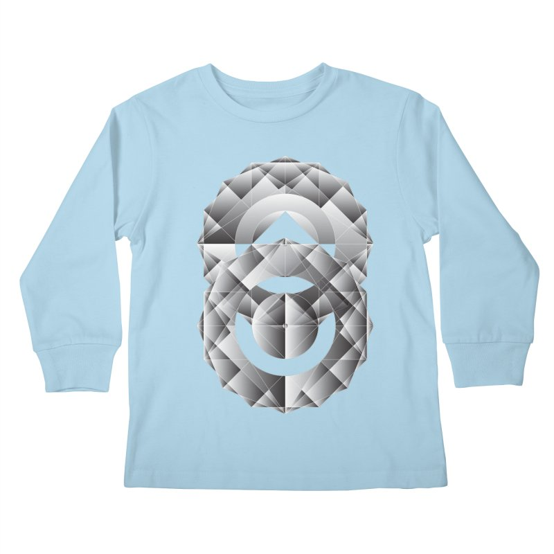 Geometric Perfection Kids Longsleeve T-Shirt by ruifaria's Artist Shop