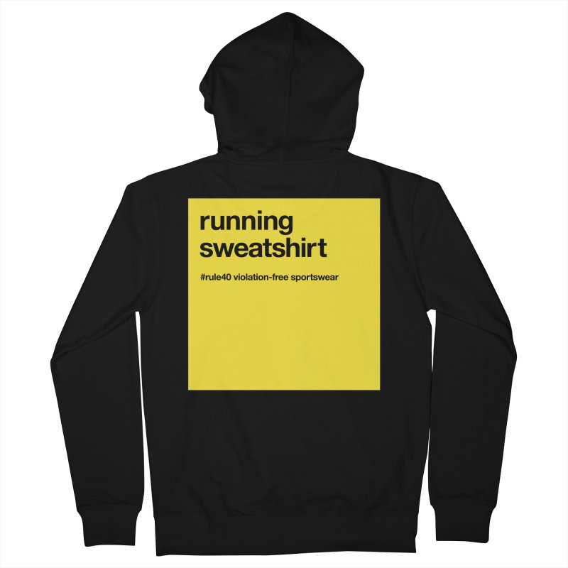 Running Sweatshirt / Hoody in Women's Zip-Up Hoody Black by rule40's Artist Shop