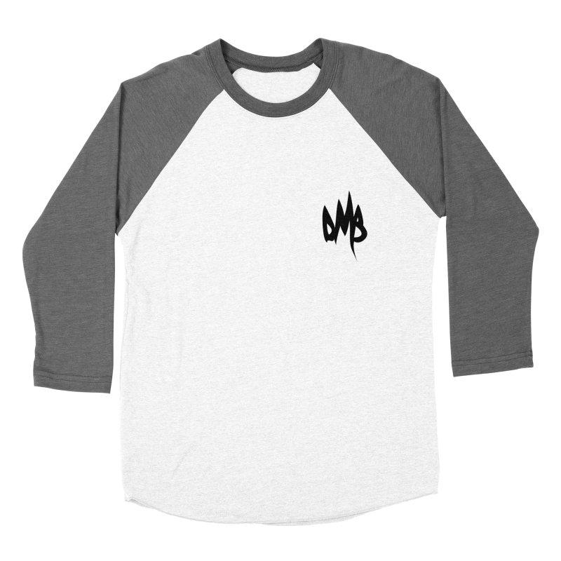 DMB Logotype Black Detail Men's Baseball Triblend T-Shirt by RunDMB's Artist Shop