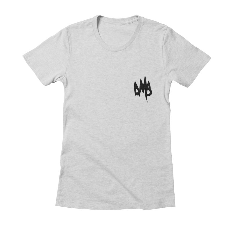 DMB Logotype Black Detail Women's Fitted T-Shirt by RunDMB's Artist Shop