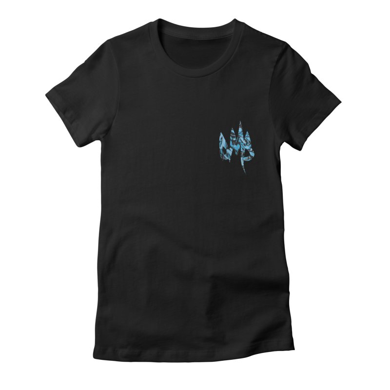 DMB Logotype Camo Detail Women's Fitted T-Shirt by RunDMB's Artist Shop