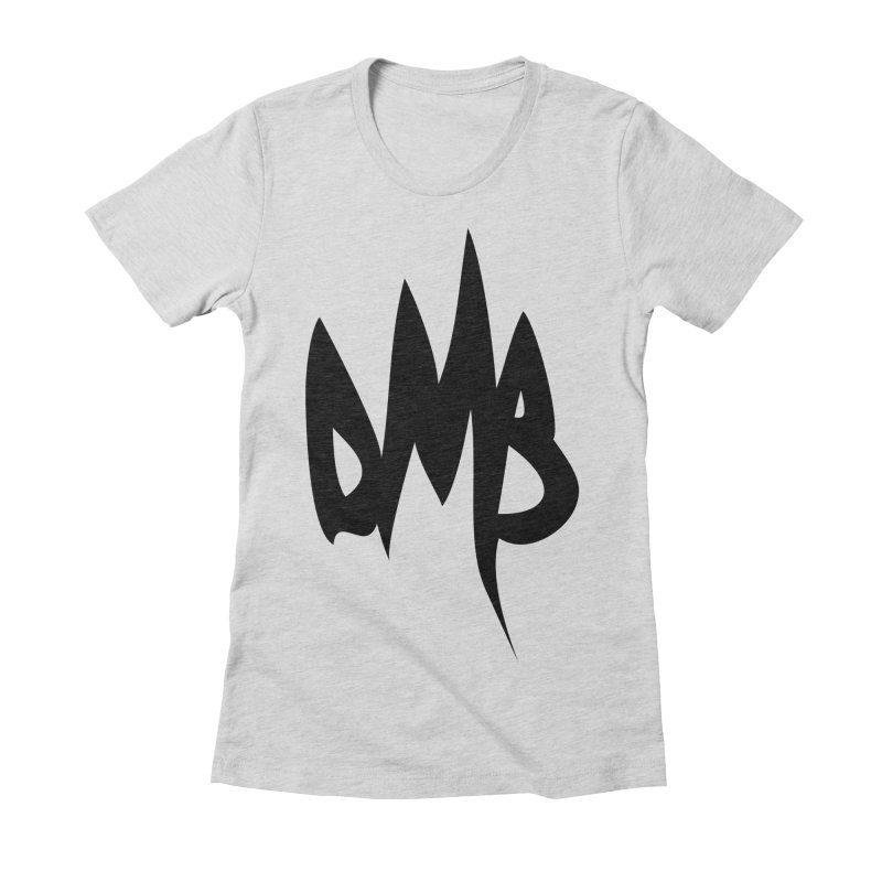 DMB Logotype Black Women's Fitted T-Shirt by RunDMB's Artist Shop