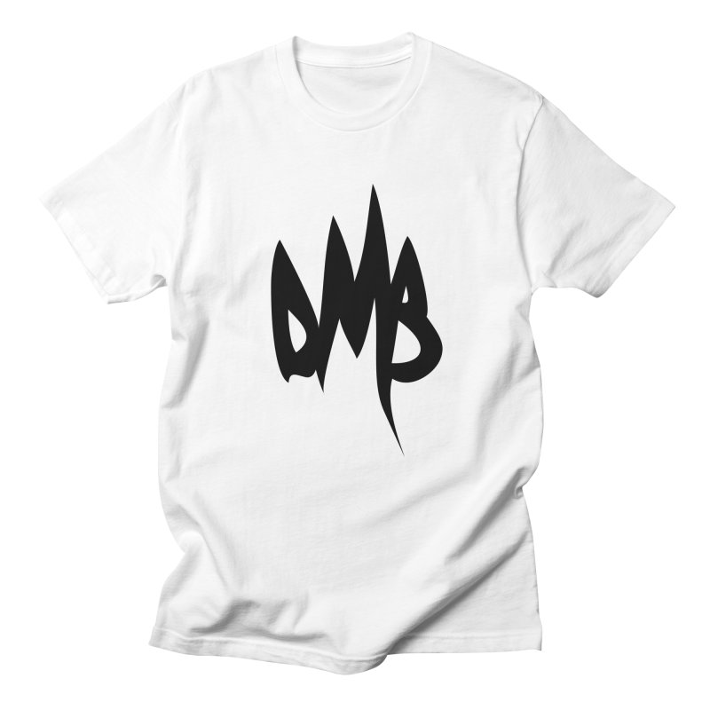 DMB Logotype Black in Men's T-Shirt White by RunDMB's Artist Shop