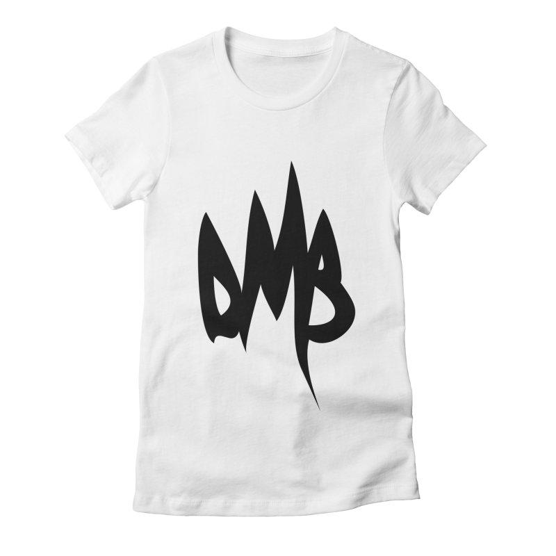 DMB Logotype Black Women's Fitted T-Shirt by RunDMB's Artist Shop