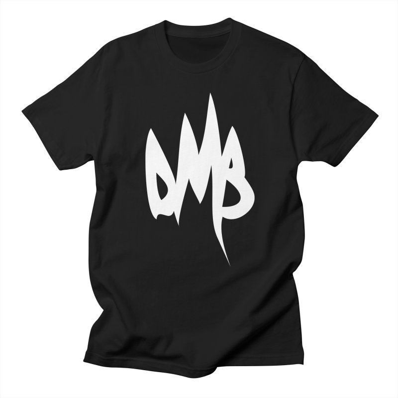 DMB Logotype White in Men's T-Shirt Black by RunDMB's Artist Shop