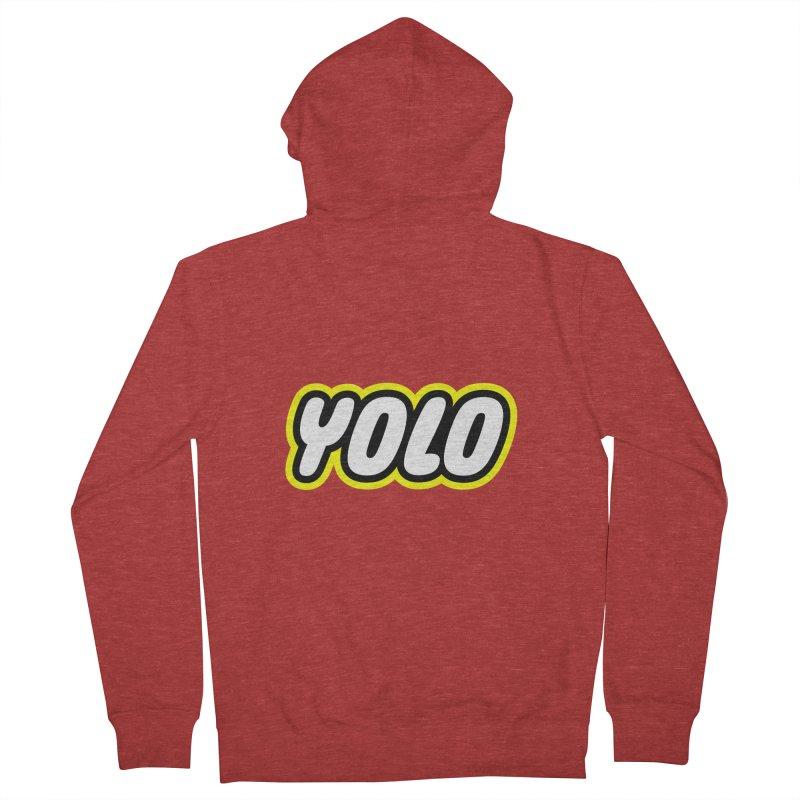 YOLO Men's Zip-Up Hoody by runeer's Artist Shop