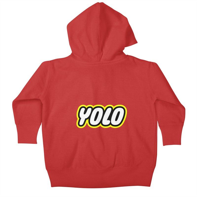 YOLO Kids Baby Zip-Up Hoody by runeer's Artist Shop