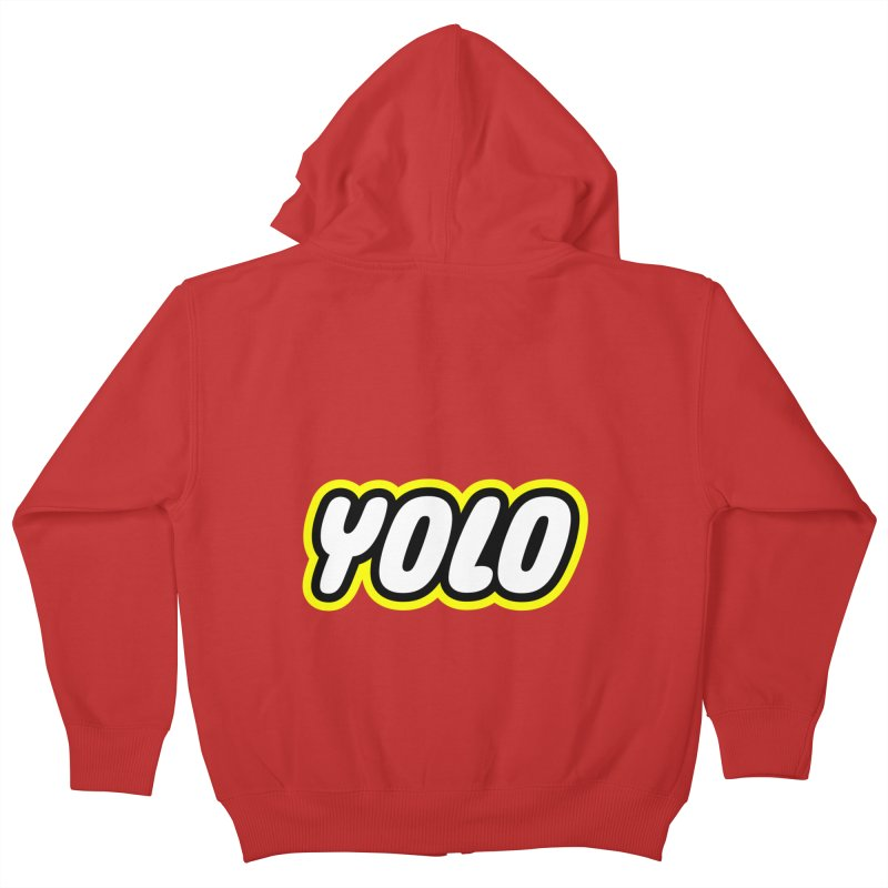 YOLO Kids Zip-Up Hoody by runeer's Artist Shop