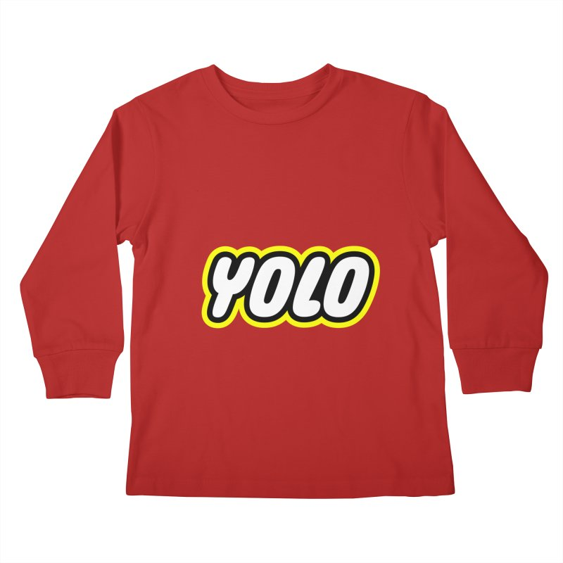 YOLO Kids Longsleeve T-Shirt by runeer's Artist Shop