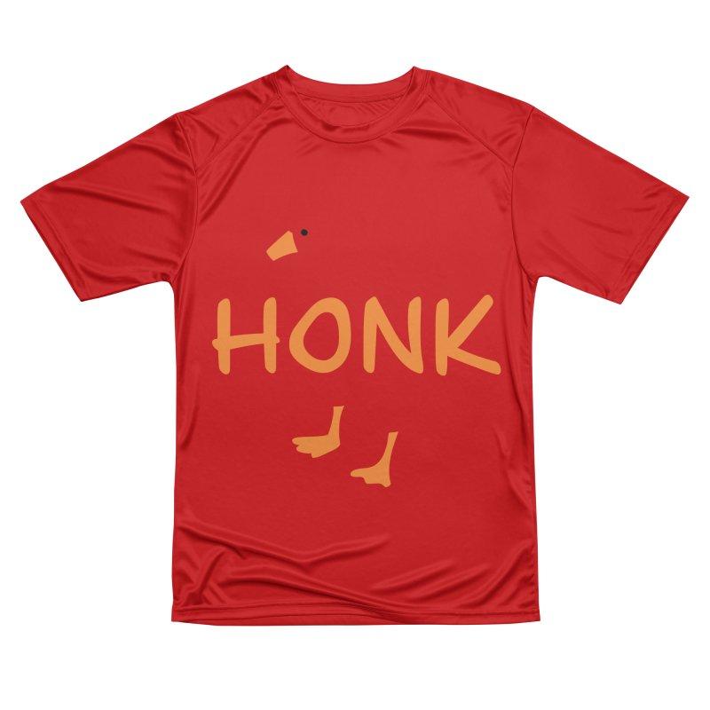 Honk Women's Performance Unisex T-Shirt by runjumpstomp's Artist Shop