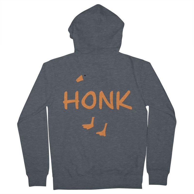 Honk Women's French Terry Zip-Up Hoody by runjumpstomp's Artist Shop